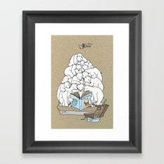 Polar Bear Christmas Time Framed Art Print