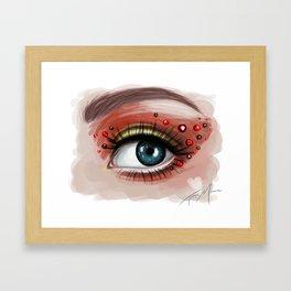 Heart Eyes Framed Art Print