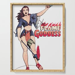 The Flame Goddess Serving Tray