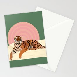 Tiger on a Couch Stationery Cards