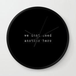 Hero I Wall Clock