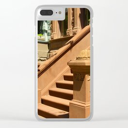 New York Manhattan Upper West Side Townhomes Clear iPhone Case