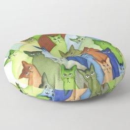 Oklahoma City Many Whimsical Cats Floor Pillow