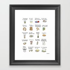 Foods of Arrested Development - Season 4 Framed Art Print