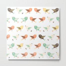 Assorted birds pattern Metal Print