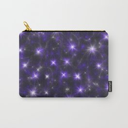 Ultra Violet Stars in a Purple Galaxy Carry-All Pouch