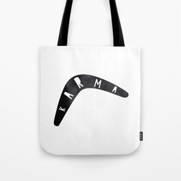 Karma / poster, boomerang, art print, pictures, scandinavian, nursery, deco, family, saying, christm Tote Bag