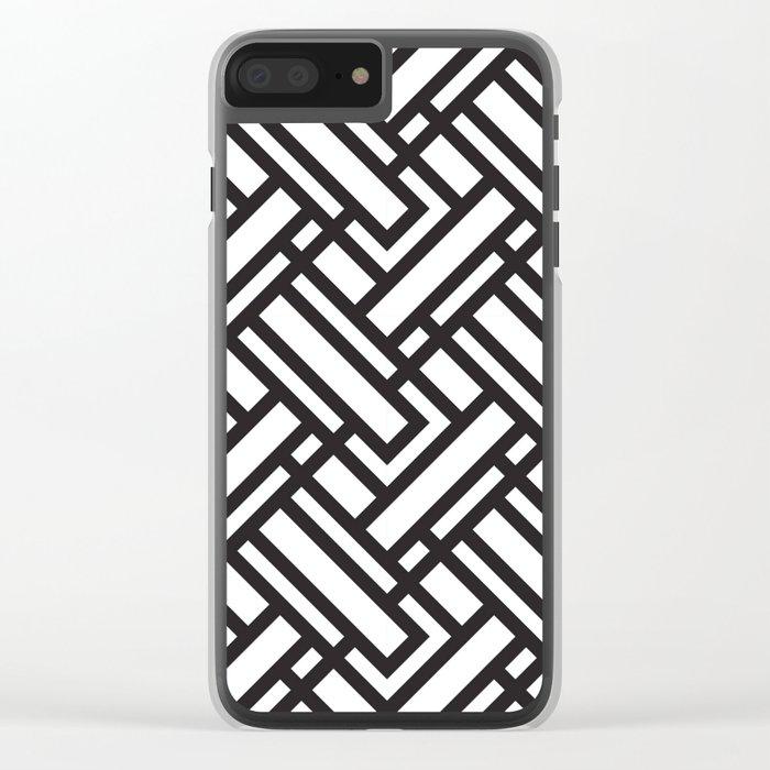 geometric 5 Clear iPhone Case