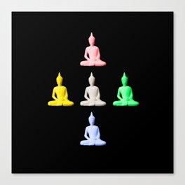 Five Buddhas Canvas Print