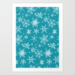 Snow Flakes 05 Art Print