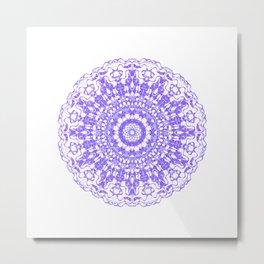 Mandala 12 / 2 eden spirit purple lilac white Metal Print