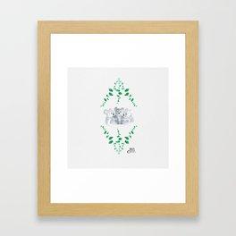 Koalas in Eucalyptus Framed Art Print