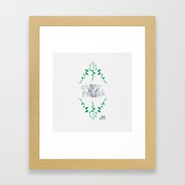 Koalas in Eucalyptus Framed Art Print