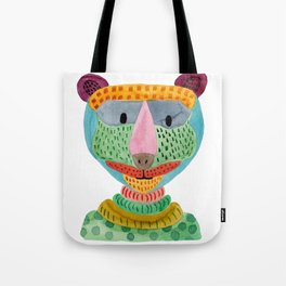 Cute Bear Watecolor Tote Bag