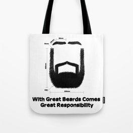 Beard Responsibility Tote Bag