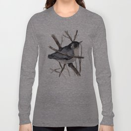 Grey Birdy 2 Long Sleeve T-shirt