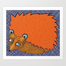 Big-Eyed Tiny-Footed Hedgehog Art Print