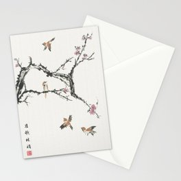 Sparrows & Blossoms Stationery Cards