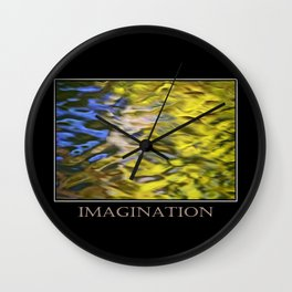 Inspiring Imagination Wall Clock