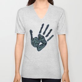 Isaiah 49:16 - Palms of his hands Unisex V-Neck