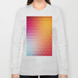 Retro  geometric shapes Long Sleeve T-shirt