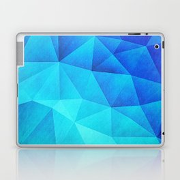 Abstract Polygon Multi Color Cubizm Painting in ice blue Laptop & iPad Skin