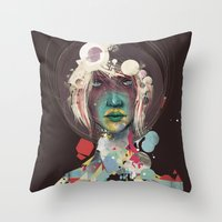 broken Throw Pillows featuring broken by Thiago Souto