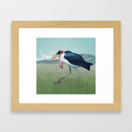 Marabou Stork Framed Art Print