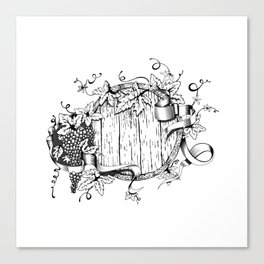 Wine in a barrel Canvas Print