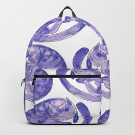 Sleepy Purple cat Backpack