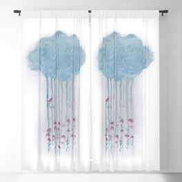Rain in the woods Blackout Curtain