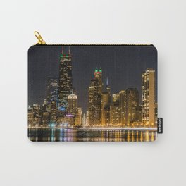 Chicago North Shore Skyline Night Carry-All Pouch