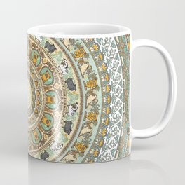 Pug Yoga Medallion Coffee Mug