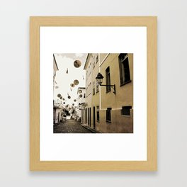 signs in the sky Framed Art Print