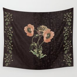 Promises in a poppy Wall Tapestry
