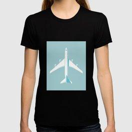 747-400 Jumbo Jet Airliner Aircraft - Sky T-shirt