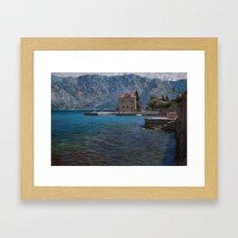 Montenegro. Kotor bay Framed Art Print