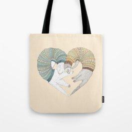 Ferret Sleep Love Tote Bag