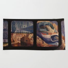 The Insomnia of Nimrod Beach Towel
