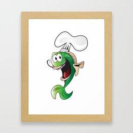 cooker fish Framed Art Print