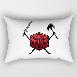 D20 Warrior Fighter Rectangular Pillow