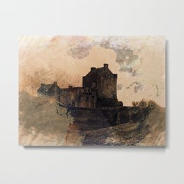 Eilean Donan Castle Kyle of Lochalsh Scotland Metal Print