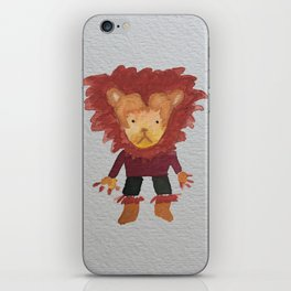 Lion Jungle Friends Baby Animal Water Color iPhone Skin