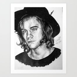 Harry Styles Drawing Art Print