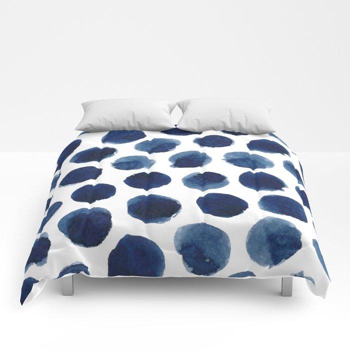 Watercolor polka dots Comforters