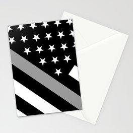 U.S. Flag: Black Flag & The Thin Grey Line Stationery Cards