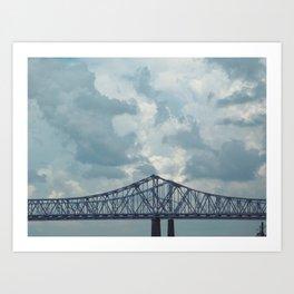 Bridge over Brackish Water Art Print