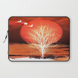 Sun in red Laptop Sleeve