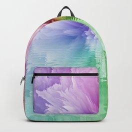 Rainbow Tie Dye Floral Flower Backpack
