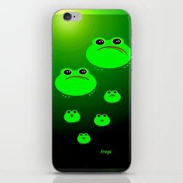 Frogs. iPhone Skin